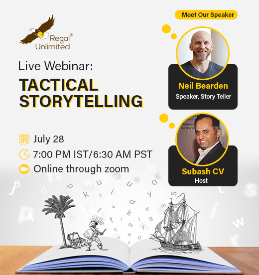 "Regal Global Webinar on ""Tactical StoryTelling"